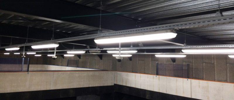 Schietbaan politieacademie voorzien van LED verlichting